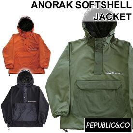20-21 REPUBLIC&CO リパブリック スノーウェア ジャケット ANORAK SOFTSHELL JACKET アノラックシェルジャケット メンズ アウトドア タウンウェア