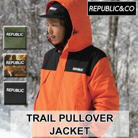 20-21 REPUBLIC&CO リパブリック スノーウェア ジャケット TRAIL PULLOVER JACKET トレイルプルオーバージャケット メンズ アウトドア タウンウェア