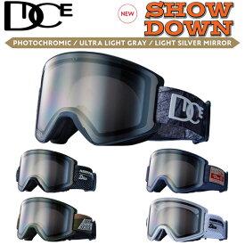 NEW 21-22 DICE ゴーグル ダイス SHOW DOWN ショーダウン SD14570 [PHOTOCHROMIC /ULTRA LIGHT GRAY/LIGHT SILVER MIRROR] 調光レンズ JAPANFIT スノーボード
