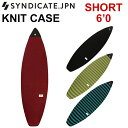 サーフィン ソフトケース SYNDICATE シンジケート ボードケース ニットケース SHORT 6'0 サーフボードケース ショート…