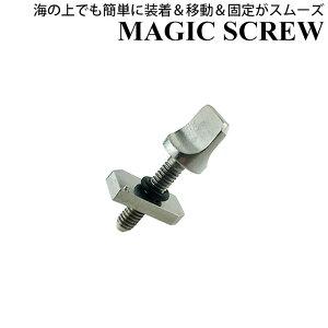 Maneuverline MAGIC SCREW マジックスクリュー ロングボード FIN BOX ナット&プレート 品番:SA087 ボルト スクリュー いもねじ ネジ シングルボックス シングルBOX フィン 固定用 マニューバーライン [