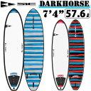 """SIC SURF エスアイシー サーフボード ソフトボード サーフィン DARKHORSE SERIES 7'4"""" ダークホース フィン付 ファ…"""