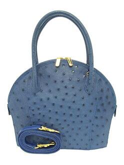 NICO MARTELLI意大利制造驼鸟2部手手提包蓝色(BL FON-235)