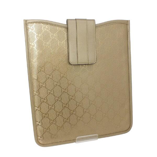 グッチ GUCCIPVC加工 GG柄 iPadケース ゴールド (256575 FU4FN 9504 GLD)