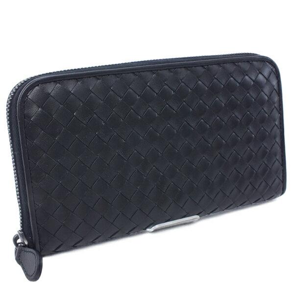 ボッテガヴェネタ BOTTEGA VENETA 財布 ラウンドファスナー 長財布 ブラック ネロ(114076 V001N 1000 BK)