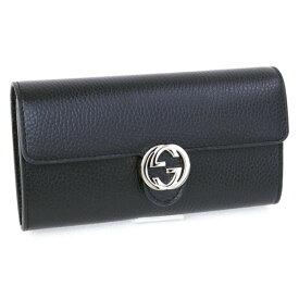 グッチ GUCCI 財布 長財布 ブラック GGロゴ (598166 CAO0G 1000 BLACK) アウトレット