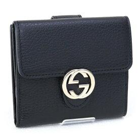 グッチ GUCCI 財布 折財布 ブラック GGロゴ (598167 CAO0G 1000 BLACK) アウトレット