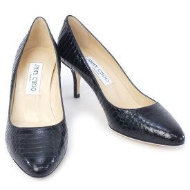 【アウトレットセール】訳あり2 ジミーチュウ JIMMY CHOO 靴 レディース パンプス ブラック 38.5サイズ (IRENA PANELLED ELAPHE BLACK)【あす楽対応】