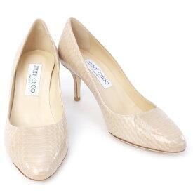 【アウトレットセール】訳あり1 ジミーチュウ JIMMY CHOO 靴 レディース パンプス ベージュ 38サイズ (IRENA PANELLED ELAPHE NUDE)【あす楽対応】