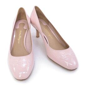 サルヴァトーレ フェラガモ Salvatore Ferragamo 靴 レディース ガンチーニ パンプス エナメルピンク (BRONI 55 0684706 BONBON)