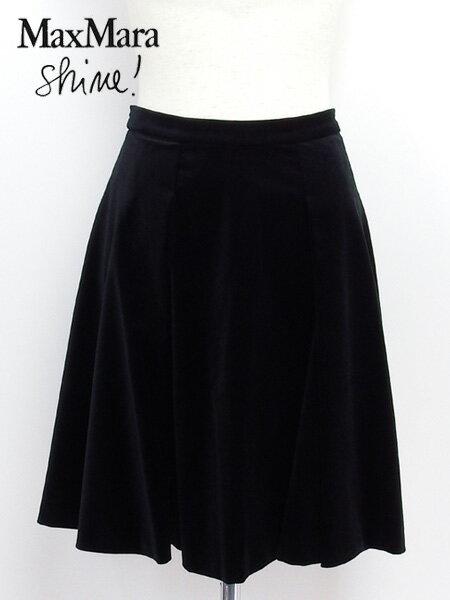 2015秋冬 マックスマーラ MaxMara Shine! フレアー スカート ブラック (KHAT 81060358 01 BK)【あす楽対応】