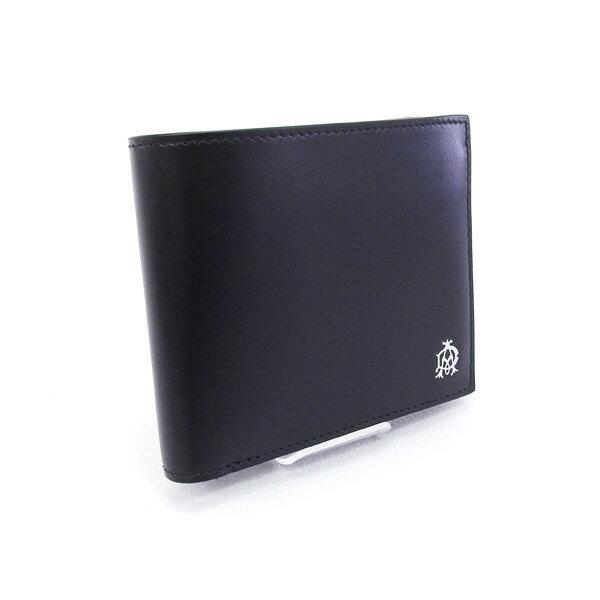 2017年春夏 ダンヒル DUNHILL 財布 WESSEX 折財布 ブラック (L2AS32A BK)【あす楽対応】