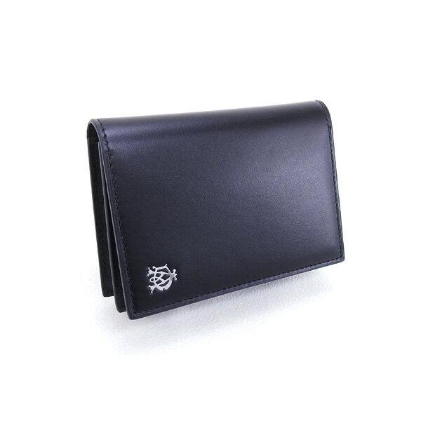 2017年春夏 ダンヒル DUNHILL カードケース WESSEX カードケース 名刺入れ ブラック (L2AS47A BK)【あす楽対応】