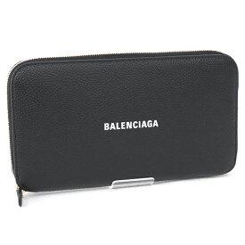 2021SS 新作 バレンシアガ BALENCIAGA 財布 メンズ ラウンドファスナー長財布 カーフ ブラック×ホワイト (594290 1IZIM 1090 BLACK/L WHITE)