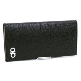 2021SS 新作 サルヴァトーレ フェラガモ Salvatore Ferragamo 財布 メンズ 長財布 カーフ ブラック (66 A069 0686018 NERO)