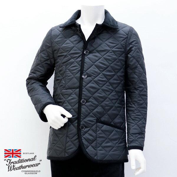 2018年秋冬 トラディショナル ウェザーウェア Traditional Weatherwear メンズ ウェーバリー キルティングコート ブラック (WAVERLY 7189 TJ01/KZ04 BK×BK)
