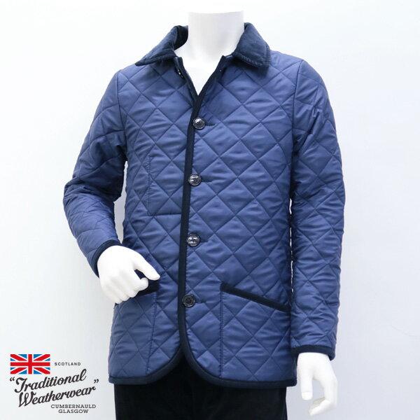 2018年秋冬 トラディショナル ウェザーウェア Traditional Weatherwear メンズ ウェーバリー キルティングコート ライトネイビー (WAVERLY 7189 TJ07/KZ03 LNV×NV)