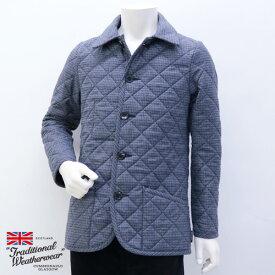 2018年秋冬 トラディショナル ウェザーウェア Traditional Weatherwear メンズ ウェーバリー キルティングコート ウール ブルーグレー (WAVERLY 7189 N601/N601F BLGL)