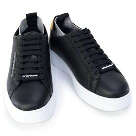 2020年秋冬新作 エンポリオアルマーニ EMPORIO ARMANI 靴 メンズ スニーカー ブラックマルチ(X4X308 XM485 N233 BLK+BLK+OCHRA+GREY L)