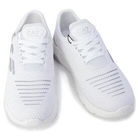 エンポリオアルマーニ イーエーセブン EMPORIO ARMANI EA7 靴 メンズ スニーカー ホワイト×シルバー (X8X059 XK140 00175 WHITE+SILVER)