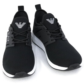 2020年秋冬新作 エンポリオアルマーニ イーエーセブン EMPORIO ARMANI EA7 靴 メンズ スニーカー ブラック (X8X052 XCC57 00002 BLACK)