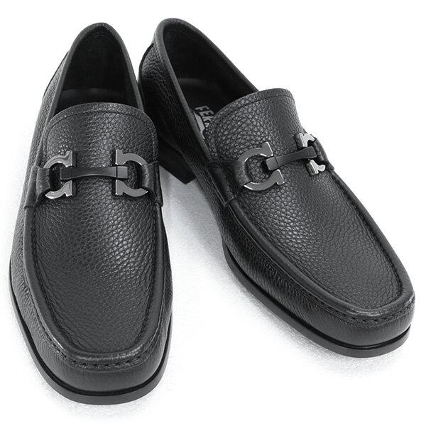 2018年春夏新作 サルバトーレ フェラガモ Salvatore Ferragamo 靴 メンズ ガンチーニ ビジネスシューズ ローファー ブラック (GRANDIOSO 0642848 NERO)