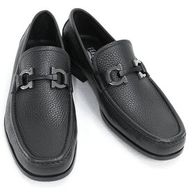 2021AW 新作 サルバトーレ フェラガモ Salvatore Ferragamo 靴 メンズ ガンチーニ ビジネスシューズ ローファー ブラック (GRANDIOSO 0642848 NERO)【あす楽対応】
