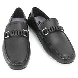 2021AW 新作 サルヴァトーレ フェラガモ Salvatore Ferragamo 靴 メンズ ガンチーニ ドライビングシューズ ローファー ブラック (STUART 0724923 NERO)【あす楽対応】