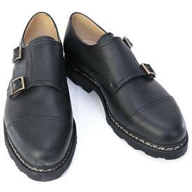 2020年秋冬新作 パラブーツ PARABOOT 靴 メンズ WILLIAM ウィリアム ビジネスシューズ ダブルモンクストラップシューズ ブラック (981412 WILLIAM NOIR)