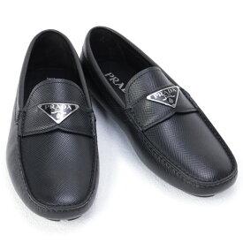 プラダ PRADA 靴 メンズ サフィアーノレザー ドライビングシューズ ローファー ブラック (2DD164 3E0N F0002 NERO)