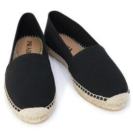 訳あり プラダ PRADA 靴 メンズ ギャバジン エスパドリーユ スリッポン ブラック (2DE125 GUD F0002 NERO)