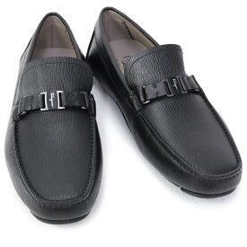 2021AW 新作 サルヴァトーレ フェラガモ Salvatore Ferragamo 靴 メンズ ガンチーニ ドライビングシューズ ローファー ブラック (AMER 0709326 NERO)【あす楽対応】