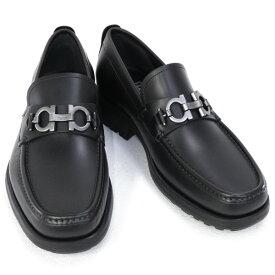 2021AW 新作 サルヴァトーレ フェラガモ Salvatore Ferragamo 靴 メンズ ガンチーニ ビジネスシューズ ローファー ブラック (DAVID 0671792 NERO)【あす楽対応】