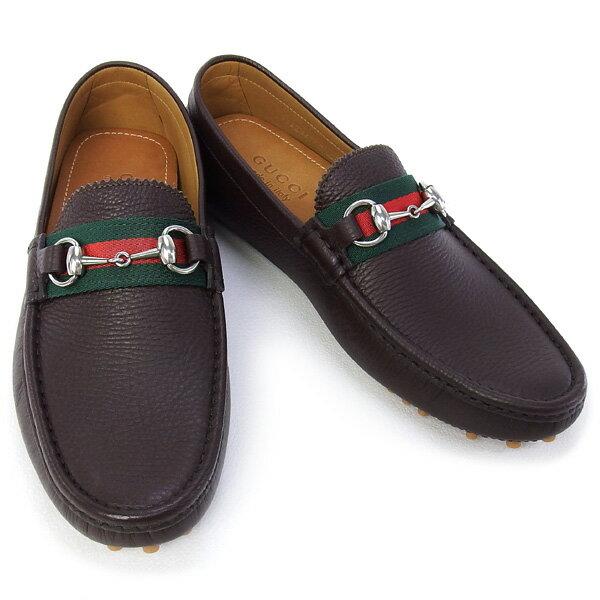 グッチ GUCCI 靴 メンズ ドライビングシューズ ホースビット ダークブラウン (322741 AHM10 2152 DB)