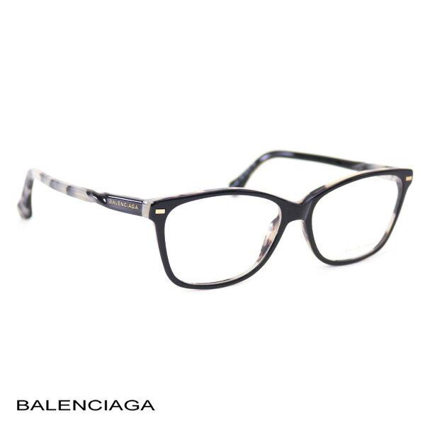 バレンシアガ BALENCIAGA レディース メガネフレーム ブラック (BA5007 005 BK)【あす楽対応】