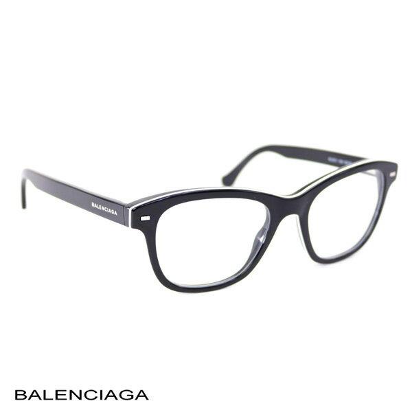 バレンシアガ BALENCIAGA レディース メガネフレーム ブラック (BA5011 004 BK)【あす楽対応】