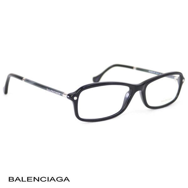 バレンシアガ BALENCIAGA レディース メガネフレーム スクエア ブラック (BA5016 001 BK)【あす楽対応】