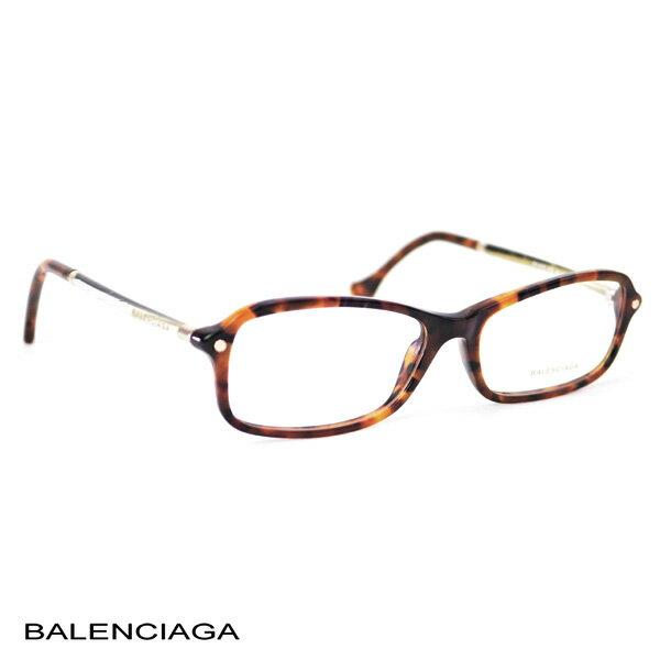 バレンシアガ BALENCIAGA レディース メガネフレーム スクエア ブラウン (BA5016 055 BR)【あす楽対応】