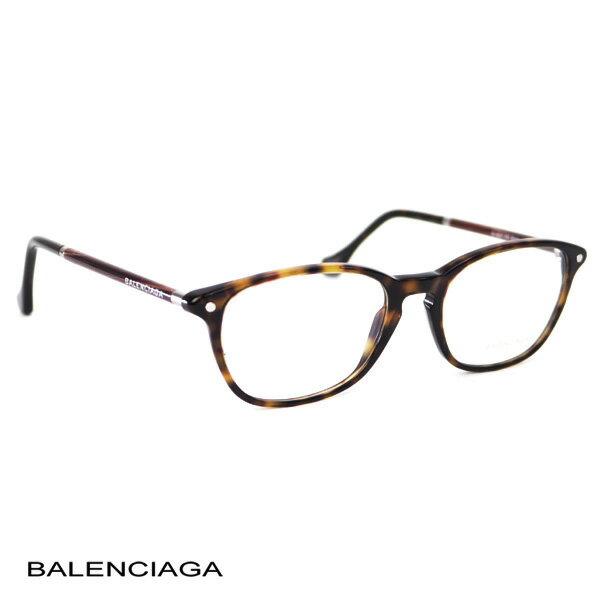 バレンシアガ BALENCIAGA レディース メガネフレーム ダークブラウン (BA5017 052 DB)【あす楽対応】