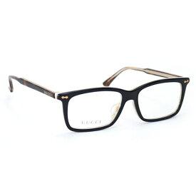 グッチ GUCCI メンズ レディース メガネフレーム スクエア ブラック (GG0191OA 004 BK BLACK-HAVANA)【あす楽対応】