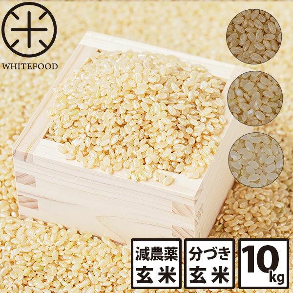 送料無料 玄米 分づき 新米 10kg 北海道産ホワイトライス 残留農薬検査済み 放射能検査済み 定期購入選択可能