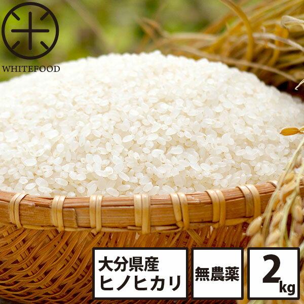 無洗米 米 2kg 送料無料 白米 玄米 大分県産 無農薬米 ヒノヒカリ 放射能検査済み