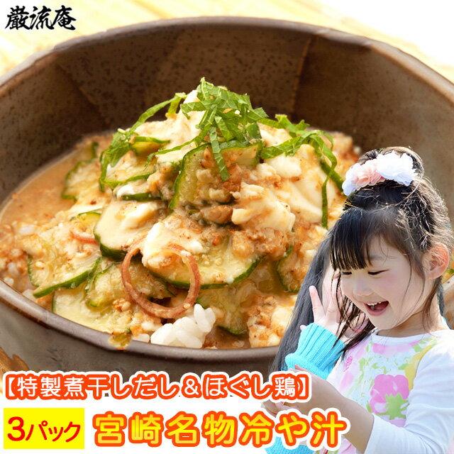 冷や汁 3パックセット 宮崎名物 宮崎の鶏肉入り 国内製造国産品 ひやじる 冷汁