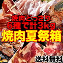 【送料無料】食べるぞ焼肉夏祭りセット合計3kg大ボリューム!色々な焼肉を一度に楽しめる!製造者だから可能としたパフォーマンス(冷凍)[詰め合わせ/セット/焼肉セ...