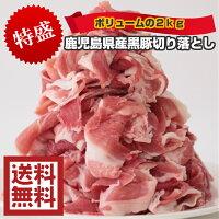 鹿児島県産黒豚切り落とし 2.0kg 500g×4パック 炒め物