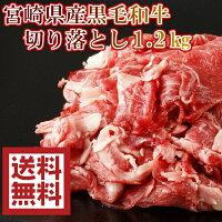 宮崎県産黒毛和牛切り落とし 1.2kg 300g×4パック 炒め物 煮物 鍋