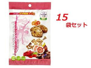 シリアル インナービューティー&メンタルアスリートバー ビッツ タイプ 15袋セット (1袋25g (5g×5)) 食品添加物 小麦 砂糖 不使用 国産 大麦 無添加 ドライフルーツ ナッツ 植物性素材 オメガ3