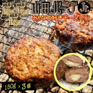 日本製 ハンバーグ 山田バーグ ジュニア 3個セット (150g×3個) 安心・安全 ISO導入工場生産 BBQ バーベキュー グルメ ギフト で 大人気 冷凍食品 お取り寄せグルメ