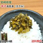高菜漬物辛子たかな漬きざみ150g×4袋送料無料宮崎県産たかなつけもの