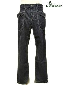 【送料無料】【MEN'S】GOHEMP (ゴーヘンプ)VENDOR FITS PANTS (ONE WASH)ベンダーフィットパンツ HEMP COTTON DENIMを使用したVENDOR FIT PANTS デニム